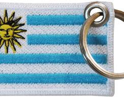 ... Chaveiro Patch Bordado - Bandeira Uruguai BD50156C 9e3983c9287b9