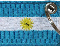 Chaveiro Patch Bordado Bandeira Argentina Bd50198c No Elo7