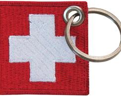 ... Chaveiro Patch Bordado - Bandeira Suíça BD50260C 8a525399dfa43
