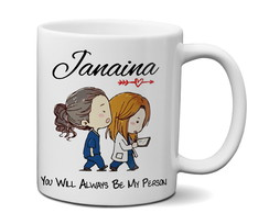 Caneca Grey's Anatomy You're My Perso com nome personalizado