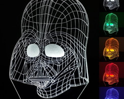 Abajur Luminária Led - Darth Vader - Star Wars