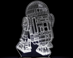 Abajur Luminária Led - R2D2 - Star Wars