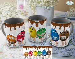Caneca Chocolate Escorrendo m&m's - Mod.04
