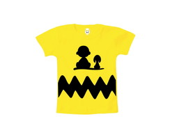 Camiseta INFANTIL OU Body Charlie Brown e Snoopy