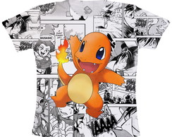 Camiseta infantil Pokemon charmander