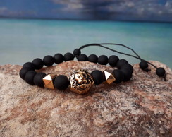 Pulseira SHARK Chan Black Lion