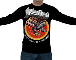 Camiseta Judas Priest Screaming for Vengeance - Manga Longa