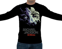 Camiseta Michael Jackson Scream - Manga Longa