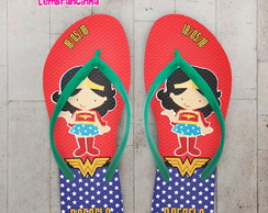 Chinelo Infantil Mulher Maravilha Cute