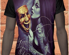 camiseta sublimacao clown mascara 151