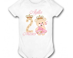 Body Meses - Princesa Urso