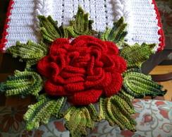 Trilho Para Mesa Em Crochê Modelo Flor No Elo7 Artes Da
