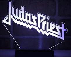 Abajur Luminária Led - Banda de Rock Judas Priest