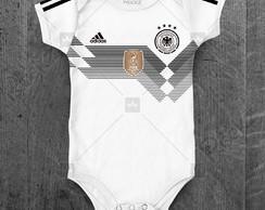 Body Alemanha Seleção Alemã Personalizado c  Nome do Bebê 6e4fe2f511f91