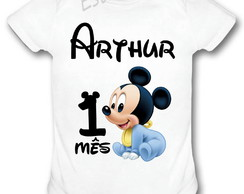 Body Personalizado do Mickey bebê Bori do Mickey baby