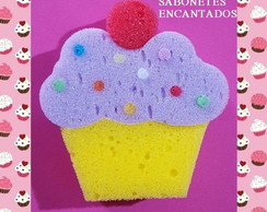 Esponja Cupcake + tag virtual