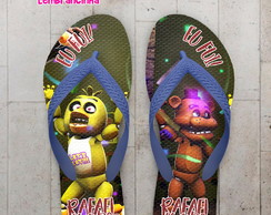 Chinelo Infantil Five night at Fredy's Chica e Freddy