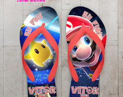 Chinelo Infantil Mario Galaxy