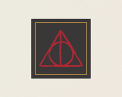 Placa Decorativa Harry Potter Relíquias da Morte - 15x15cm.