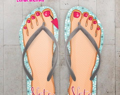 Chinelo Personalizado Pedicure