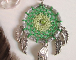 Colar Dreamcatcher ~Verde Mesclado
