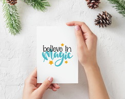 "Placa decorativa MDF ""Believe In Magic"""