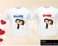 CAMISETA PARA CASAL GAME OVER C/2