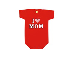 Body OU Camiseta INFANTIL I Love Mom - Algodão