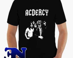 Camiseta Acdercy Meme Rock In Roll Acdc Camisa Blusa