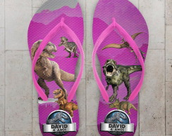 Chinelo Infantil Jurassic World Rosa