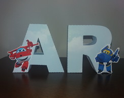 Letras 3D - Super wings
