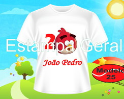 Camiseta Angry Birds Personalizada Infantil