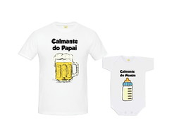 Kit Camiseta Calmante do Papai Calmante do Neném