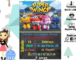Chalkboard - Convite Digital - Super Wings