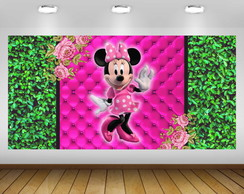 PAINÉL MINNIE ROSA 2X1M - ARQUIVO DIGITAL