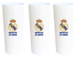 Real Madri Copos Long Drink Real Madrid