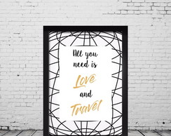 Quadro Decorativo Love and Travel