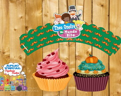 Wrappers/Saias Cupcake Normal Mundo Bita