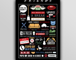 Placa Decorativa - Friends Infografico