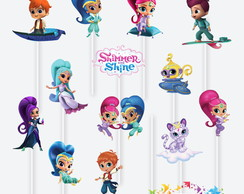 Tag no Palito Shimmer and Shine