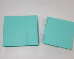 Mini álbum 15x15 com caixa - Verde Aruba- Tiffany