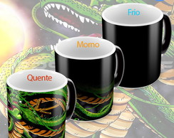 Caneca mágica Dragon ball shenlong esferas do dragão