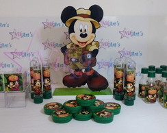 Kit com 41 intes personalizados para festa Mickey Safari
