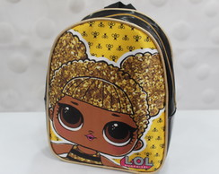 MOCHILINHA TOP GLITTER PRETO - LOL QUEEN BEE