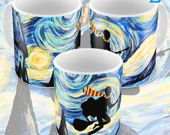 Caneca Harry Potter cartoon vassoura