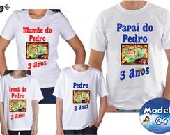 Camisa de Festa Personalizada C Foto Frase Desenho  cf07fba87f6