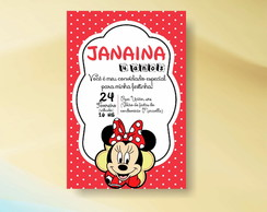 CONVITE INFANTIL MINNIE - ARTE VIRTUAL