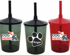 Copo Shake Twister Corporativo - Dog Hero - Frente e Verso