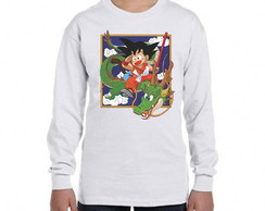 Camiseta Dragon ball manga longa