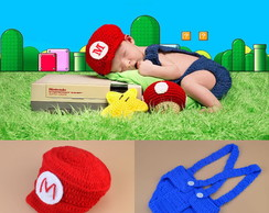 Super Mario Bross Newborns de croche